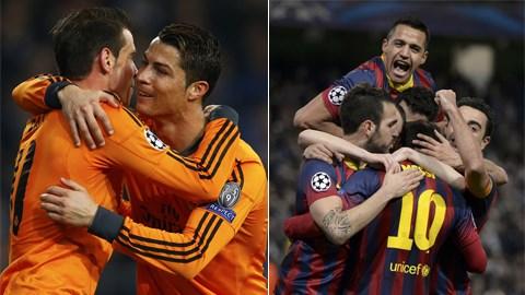 Real Madrid và Barca đều có được lợi thế lớn sau lượt đi