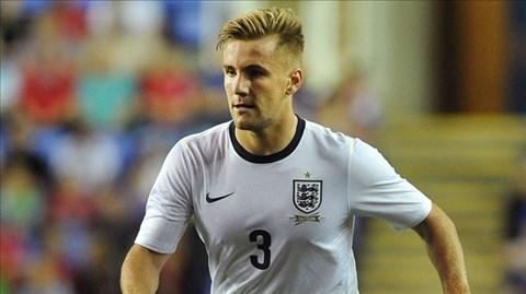 Luke Shaw trong màu áo đội U21 Anh