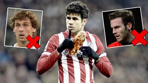 Costa có mặt, trong khi Mata và Llorente vắng mặt