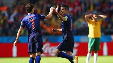 Australia 2-3 Hà Lan (Bảng B - World Cup 2014)