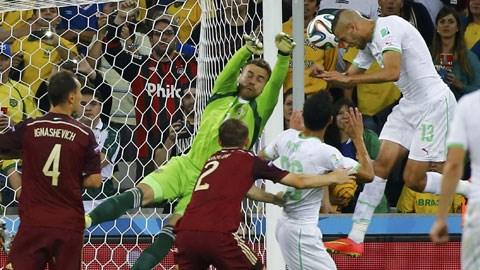 Nga 1-1 Algeria: Gấu Nga về nước