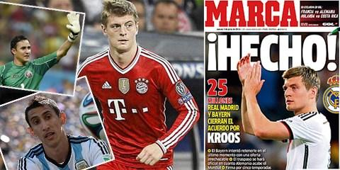 Báo chí Tây Ban Nha hé lộ Toni Kroos đã thuộc về Real Madrid