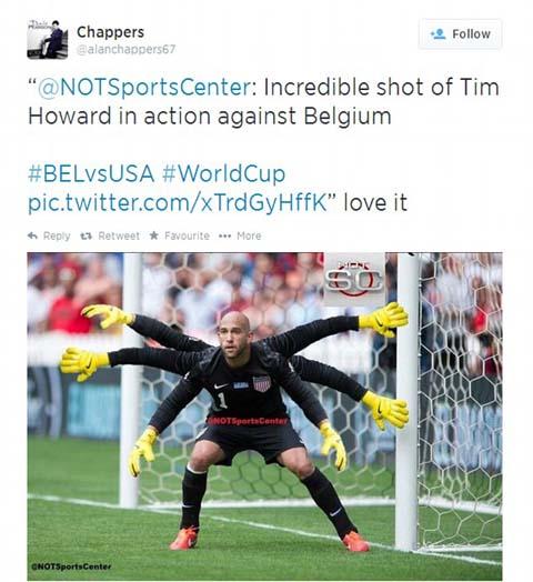 Với 6 bàn tay, Howard đã từ chối những cơ hội của ĐT Bỉ