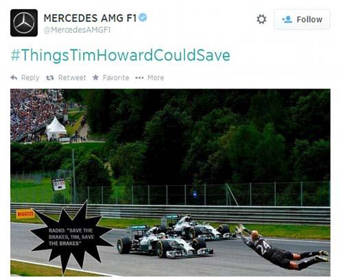 Howard có khả năng ngăn được những chiếc xe F1 đang băng về đích với tốc độ khủng khiếp.
