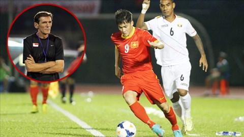 HLV Avramovic khẳng định, có rất nhiều đội bóng ở Singapore muốn có sự phục vụ của Công Vinh (áo đỏ)
