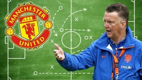 Van Gaal sẽ áp dụng sơ đồ 3-4-3 tại M.U