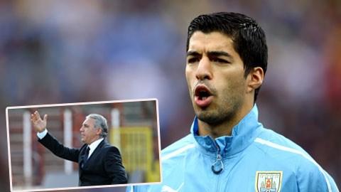 Stoichkov (ảnh nhỏ) tin rằng Suarez khó có cuộc sống yên ổn khi đã để lại ấn tượng xấu