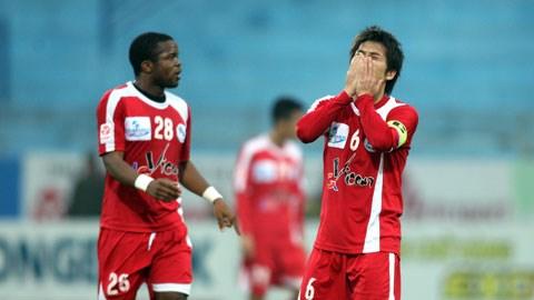 Hải Phòng đã thua tới 7 trên 10 trận gần nhất tại V-League