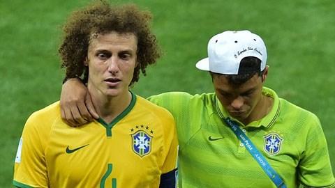 David Luiz đã khóc sau trận thua nhục