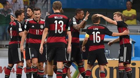 ĐT Đức đã giành vé vào chơi trận chung kết vào ngày 14/7