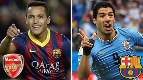 Barca đón Suarez, chia tay Sanchez