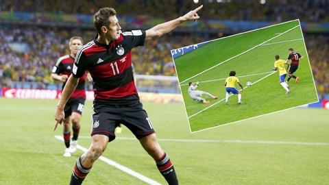 Với việc sút tung lưới ĐT Brazil, Klose đã đi vào lịch sử khi có 16 bàn tại World Cup