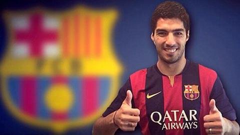 Hình ảnh của Suarez cùng áo đấu Barca đã xuất hiện trên tài khoản Twitter của CLB này