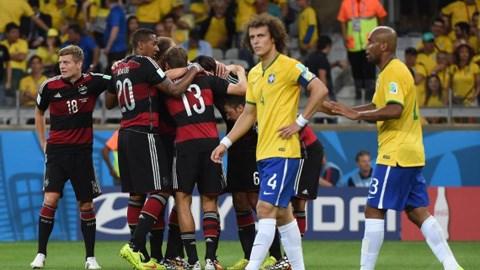 Brazil đã chịu thất bại đậm nhất trong lịch sử World Cup của họ