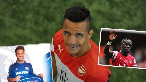 Alexis Sanchez (ảnh lớn) đã trở thành thành viên của Arsenal