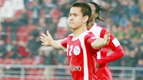 Niềm vui của Đình Tùng khi ghi 2 bàn thắng giúp Hải Phòng vào chung kết Cúp QG
