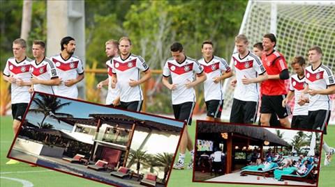Môi trường nghỉ dưỡng tại Campo Bahia giúp các tuyển thủ Đức phục hồi thể lực rất nhanh sau các trận đấu căng thẳng