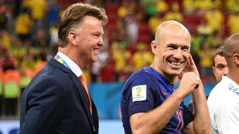 Robben khước từ lời mời của Van Gaal sang M.U