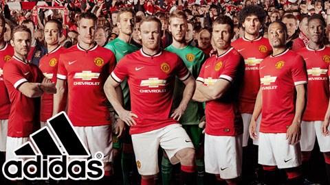 M.U và Adidas ký hợp đồng tài trợ kỷ lục