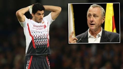 Cruyff không chào đón sự có mặt của Suarez