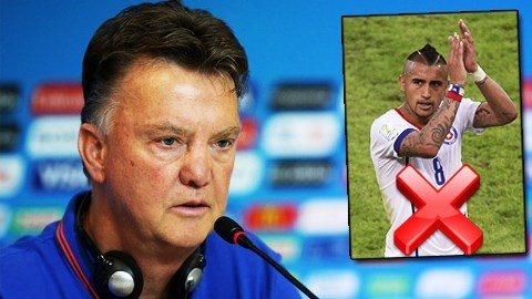 Van Gaal hết kiên nhẫn với thương vụ Vidal