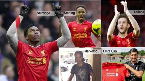 Liverpool rất tự tin với hàng công mới gồm Sturridge và Sterling là chủ lực kết hợp với các tân binh