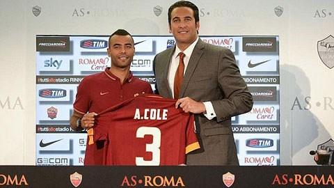 Cole mang áo số 3 ở Roma
