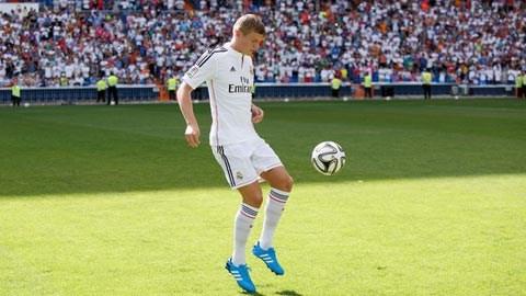 Kroos trong ngày ra mắt Real