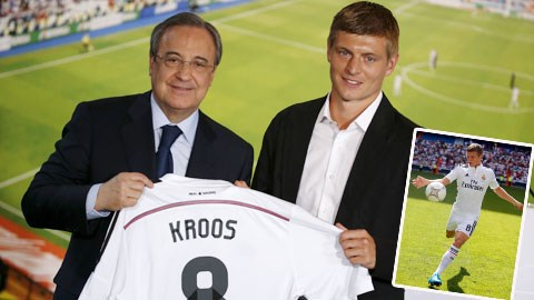 Kroos sẽ mang áo số 8 ở Real