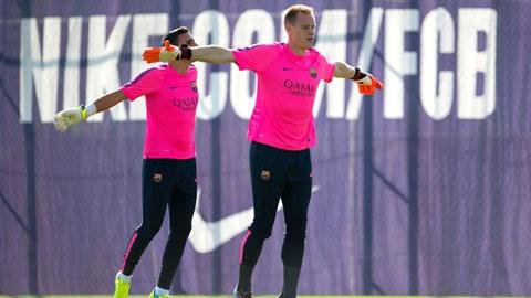 Ter Stegen và Masip sẽ là hai thủ thành của Barca trong trận giao hữu đầu mùa