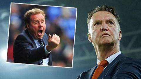 HLV Redknapp cho rằng Van Gaal sẽ trắng tay mùa đầu với M.U