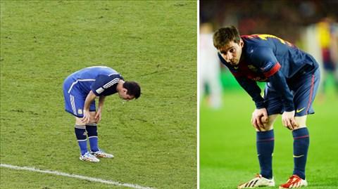 Tại ĐT Argentina cũng như tại Barca, Messi đều có nguy cơ kiệt sức nếu phải di chuyển quá nhiều ở vị trí tiền vệ
