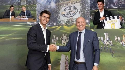 Morata đã đặt bút ký vào bản hợp đồng 5 năm với Juventus