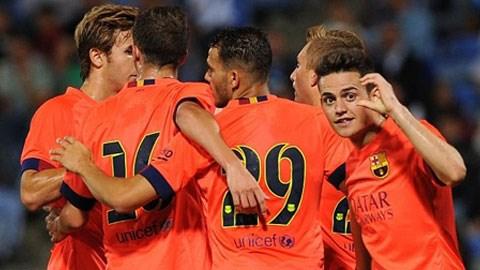 Barca đã giành được chiến thắng đầu tay dưới triều đại tân HLV Luis Enrique