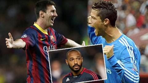Ronaldo bị Henry đánh giá thấp hơn Messi
