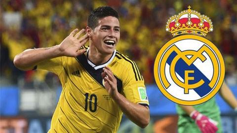 Rodriguez sẽ là tân binh thứ 3 gia nhập Real mùa Hè 2014