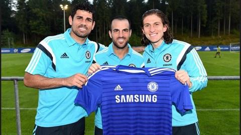 Costa, Fabregas và Filipe Luis lần đầu hội ngộ ở Chelsea