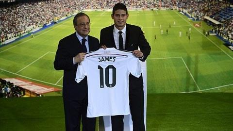 Sau buổi kiểm tra y tế, James Rodriguez đã ký hợp đồng có thời hạn 6 năm với Real