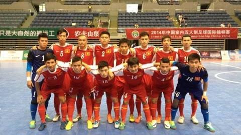 ĐT futsal Việt Nam trước trận đấu với Myanmar