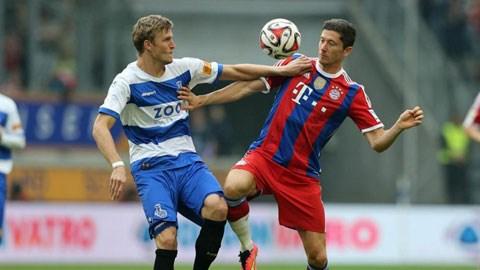 Lewandowski nhanh chóng chứng tỏ khả năng với HLV Guardiola khi ghi bàn duy nhất trước Duisburg