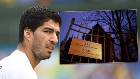 Suarez sẽ phải trông chờ vào phán quyết của CAS