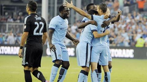 Niềm vui chiến thắng của cầu thủ Man City