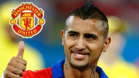 Tiền vệ Vidal sắp thuộc về M.U?