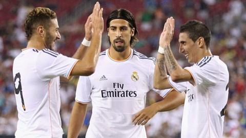 Real sẵn sàng bán những siêu sao như Benzema (trái), Khedira (giữa) hay Di Maria ngay hè này