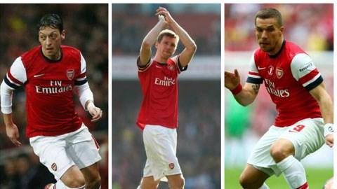 Arsenal vắng Oezil, Podolski và Mertesacker ở trận khai mạc mùa giải