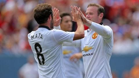 Mata và Rooney tỏa sáng giúp M.U đánh bại Roma