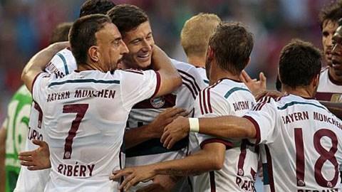 Bayern đã giành quyền tham dự trận chung kết Telekom Cup 2014 với Wolfsburg