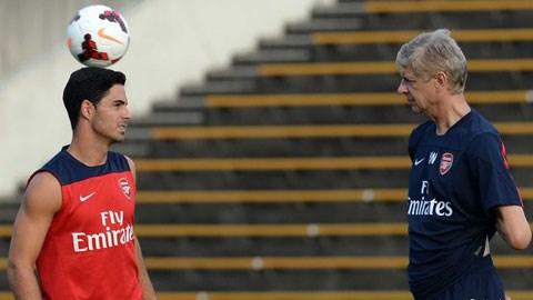Wenger không thể tiếp tục trông chờ vào Arteta