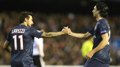 Nhiều khả năng, PSG sẽ phải bán Lavezzi và Pastore để cân bằng tài chính