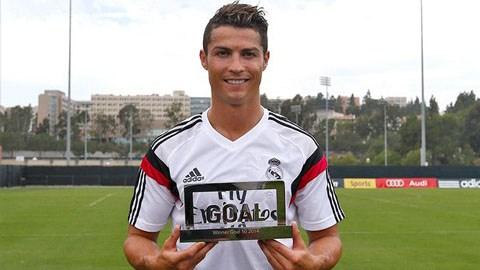 Ronaldo được các độc giả Goal.com tôn vinh